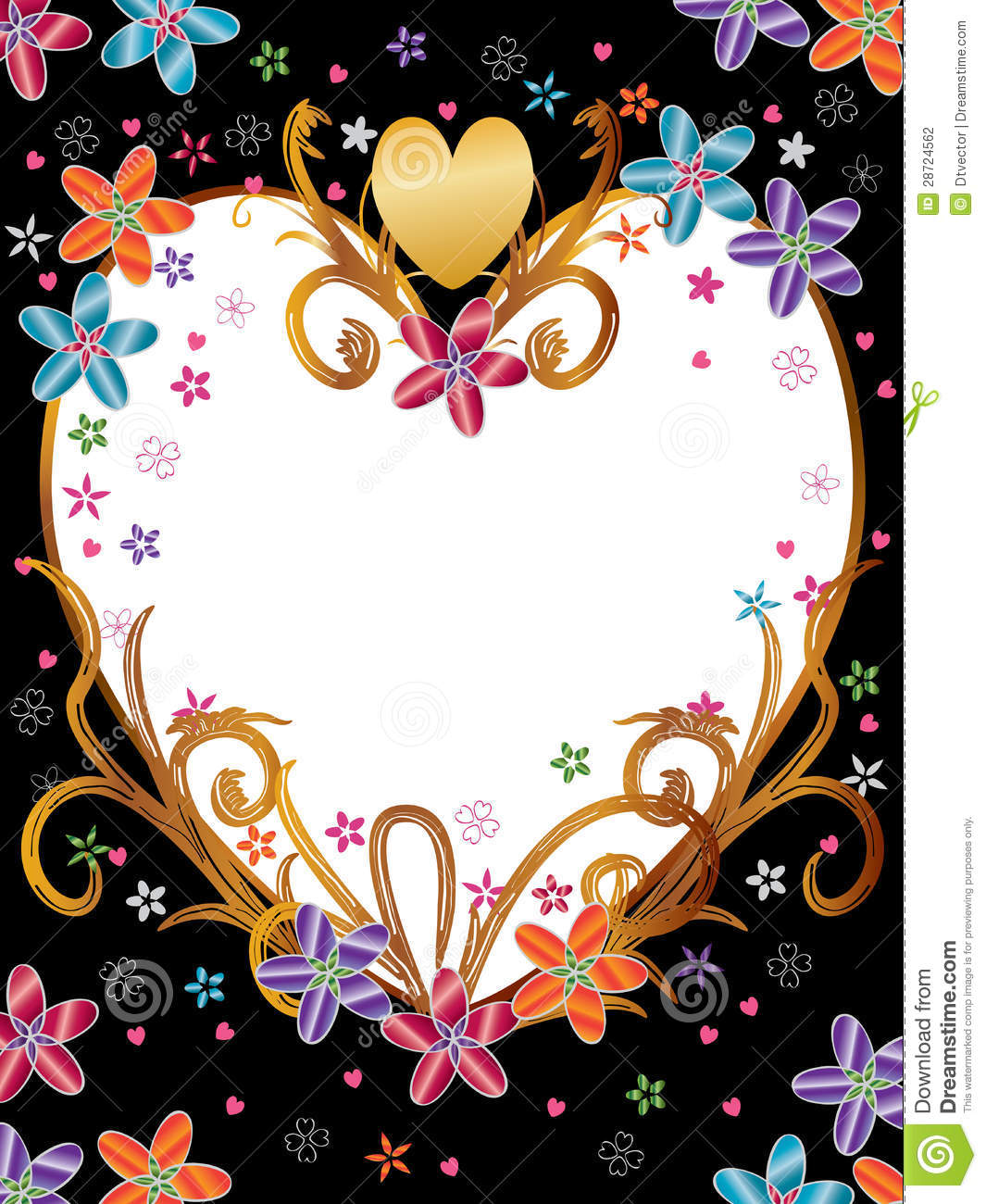 Love Flowers Frame Product_eps Stock Vector - Illustration of card ...