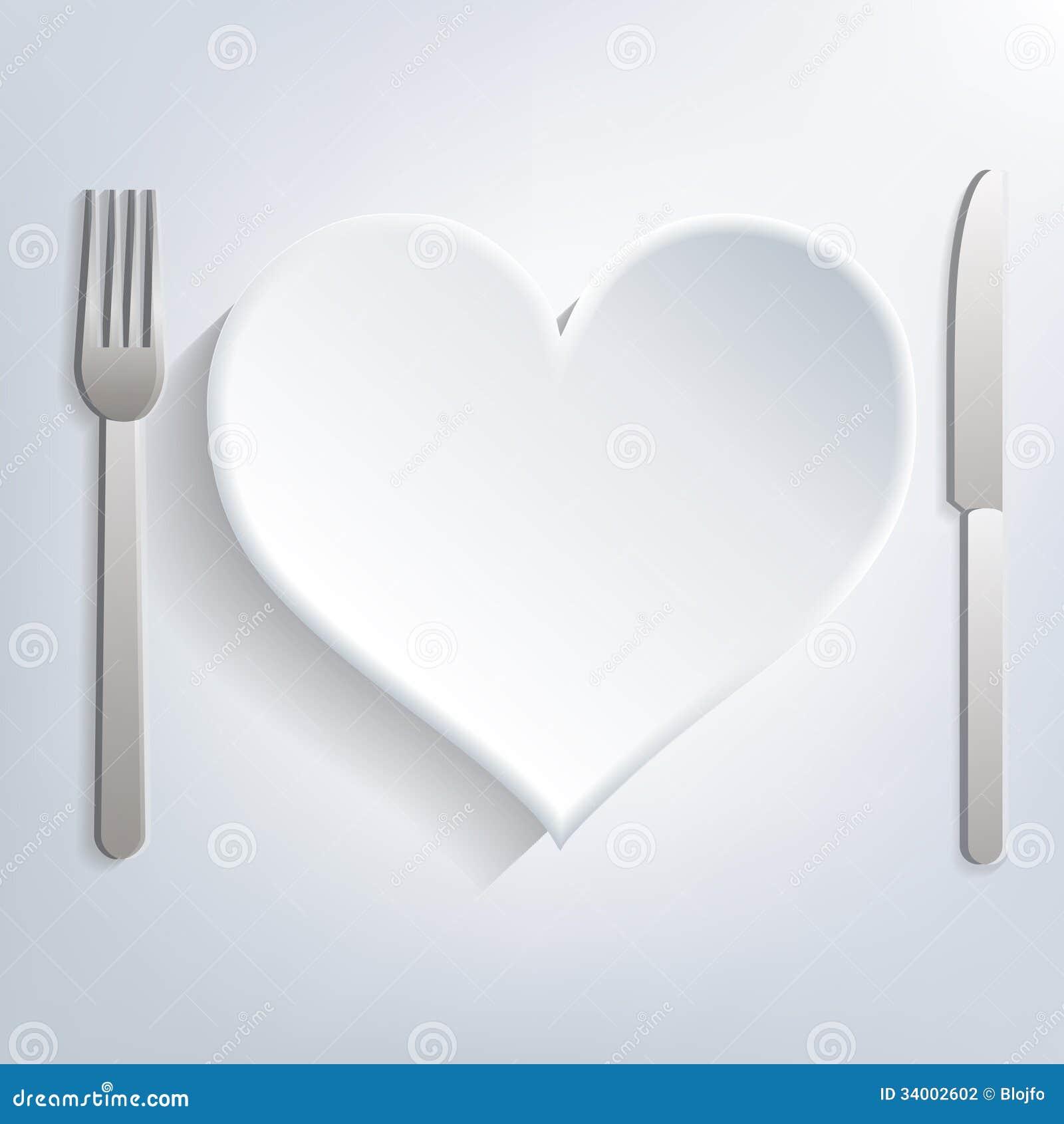 Love food  sc 1 st  Dreamstime.com & Love food stock vector. Illustration of dishware knife - 34002602