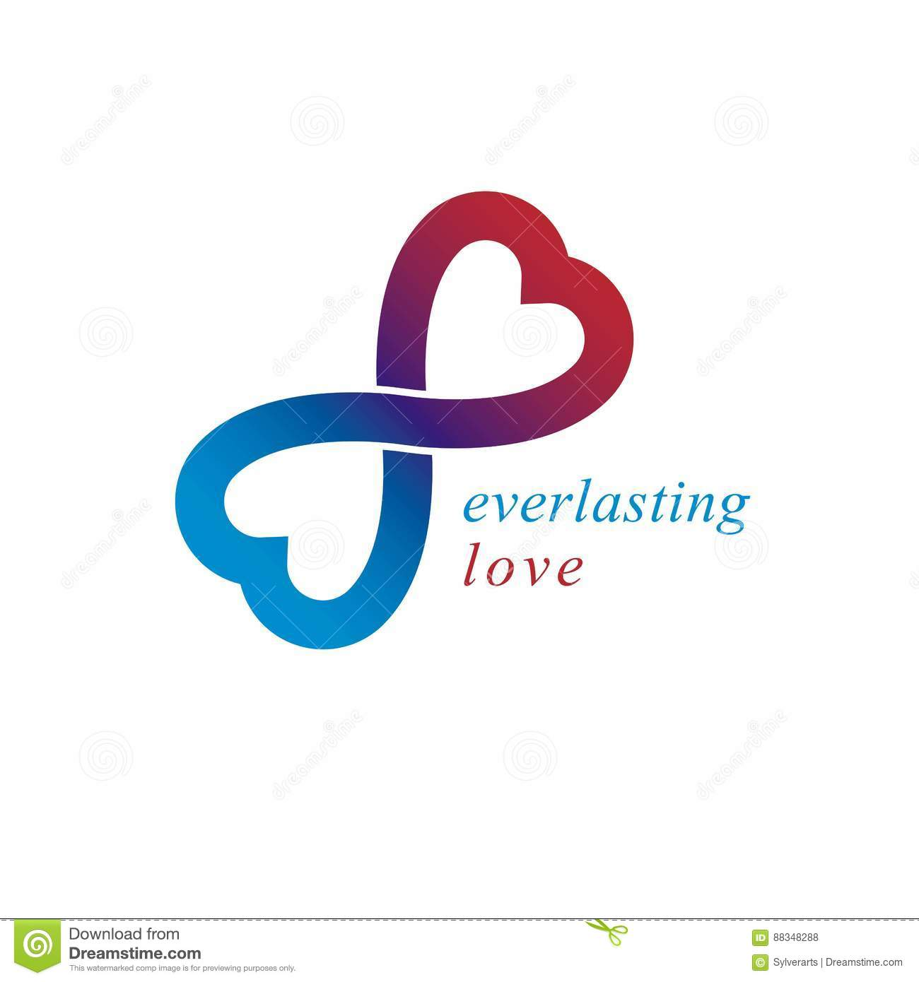 Forever love infinity symbol stock vector illustration of love forever conceptual logo vector symbol created with infinity royalty free stock photos biocorpaavc Images