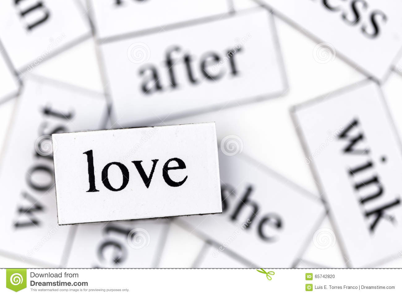 Love Stock Photo Image Of Small Heart Block Square 65742820