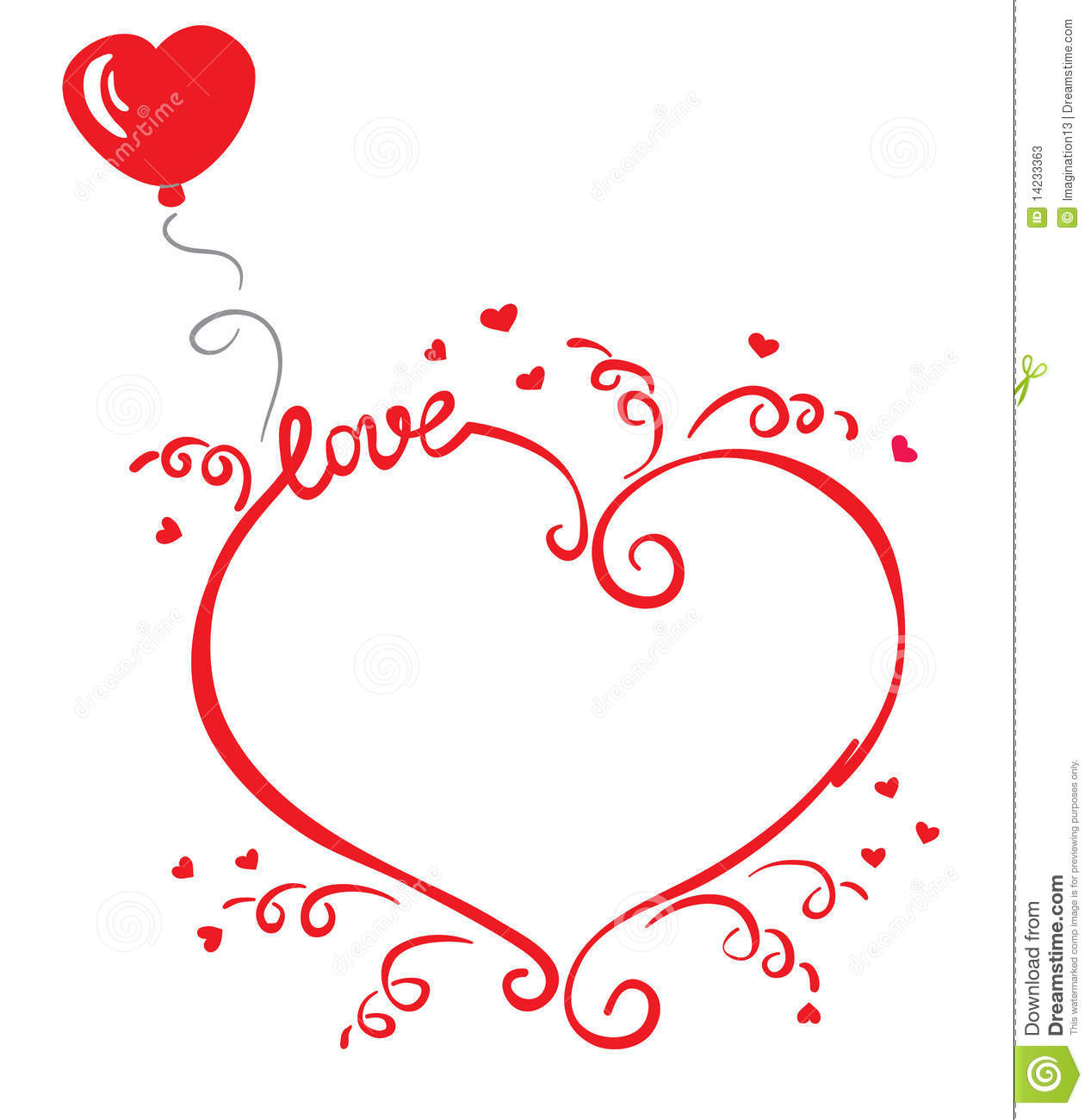 Love Frame Stock Photos - Image: 14233363