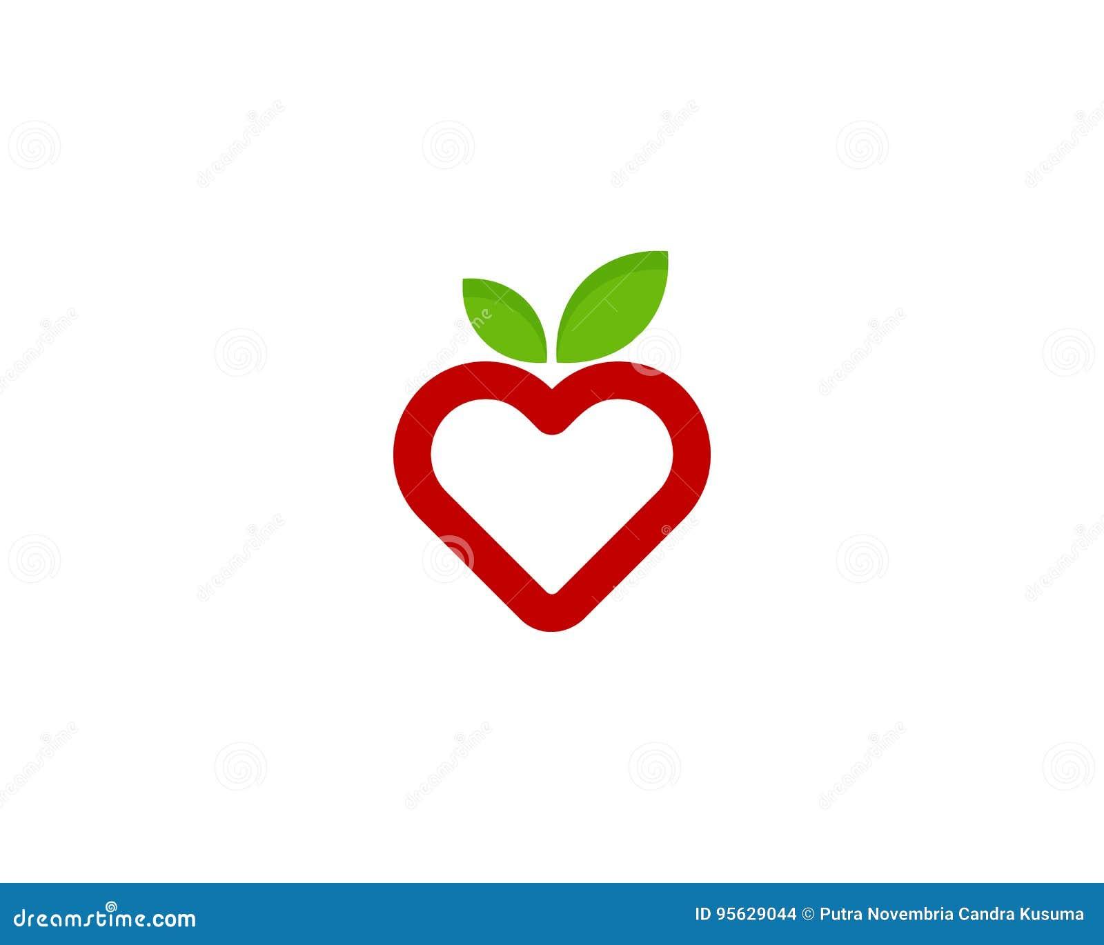 Love fruit icon logo design element stock vector illustration love fruit icon logo design element biocorpaavc