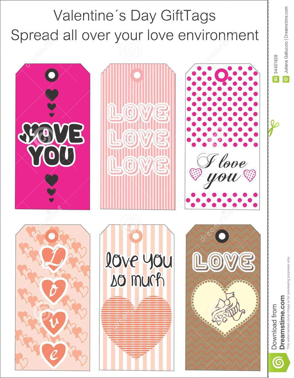 Printable Art Love Gift Tags for Valentine´s day or any lovely ...