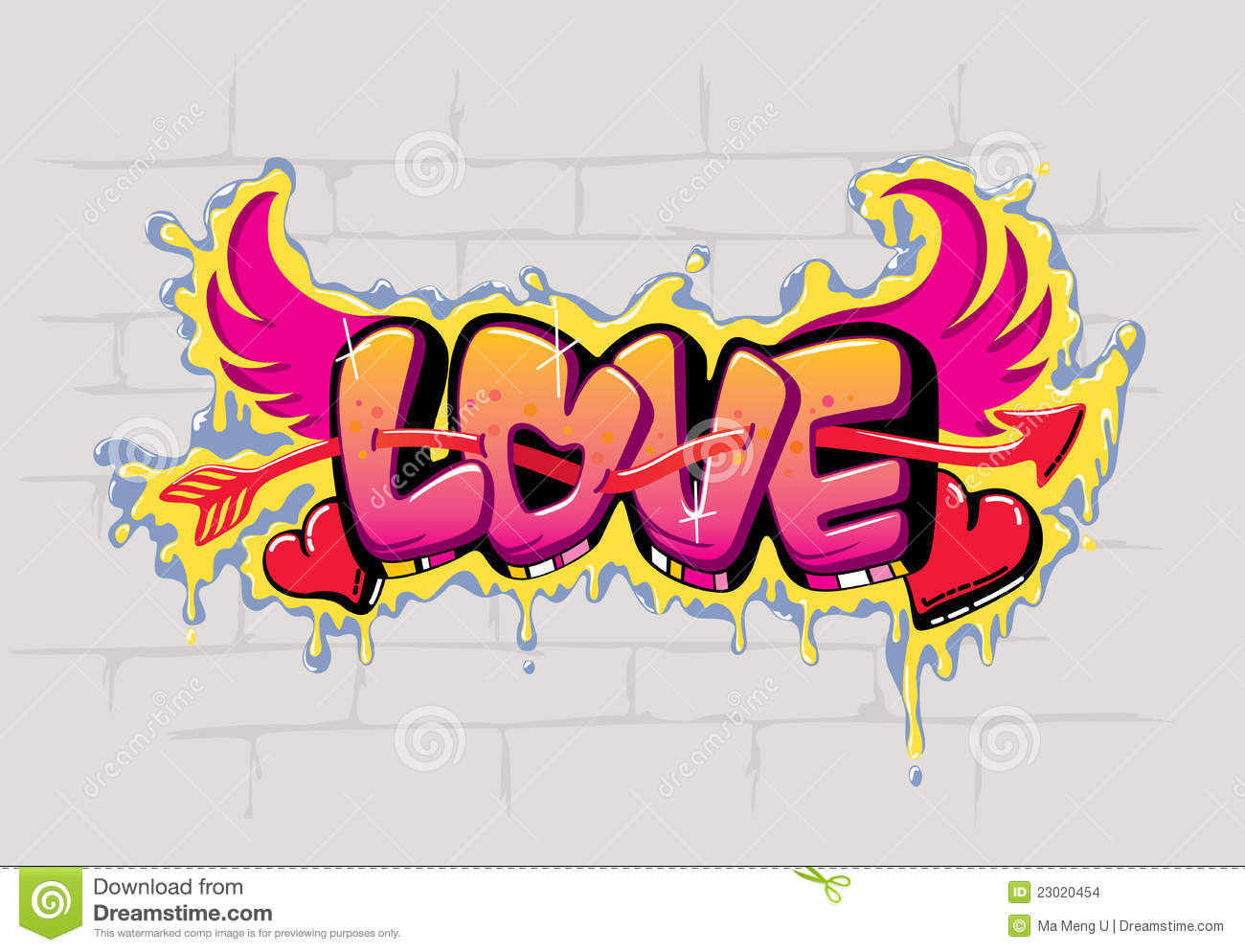 Love graffiti design stock vector illustration of street for Love in design