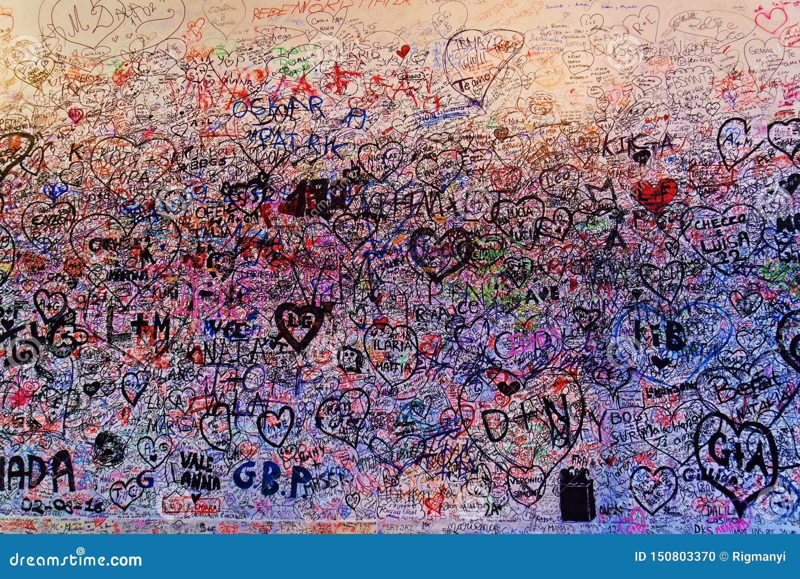 Love Graffiti On Juliette s House
