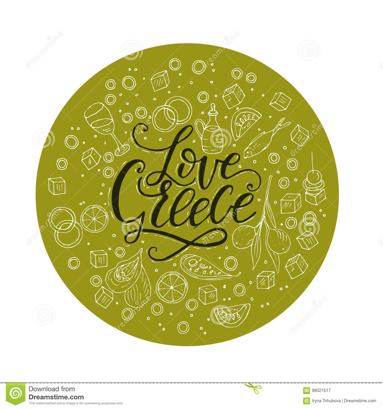 Love greece lettering handdrawn quote with doodle food symbols love greece lettering handdrawn quote with doodle food symbols biocorpaavc Image collections