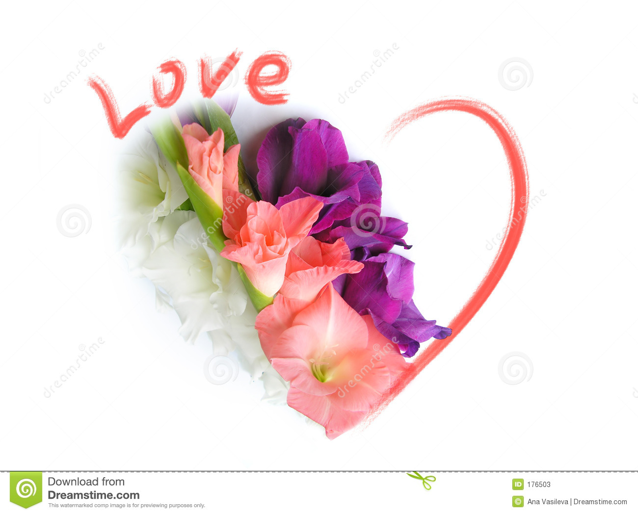 Love Greeting Card St Valentines Day Stock Image Image Of
