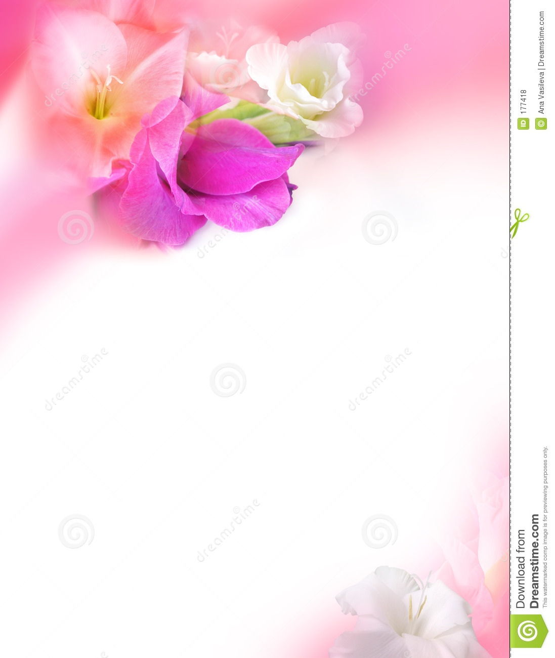 love greeting card st valentines day flowers stock illustration