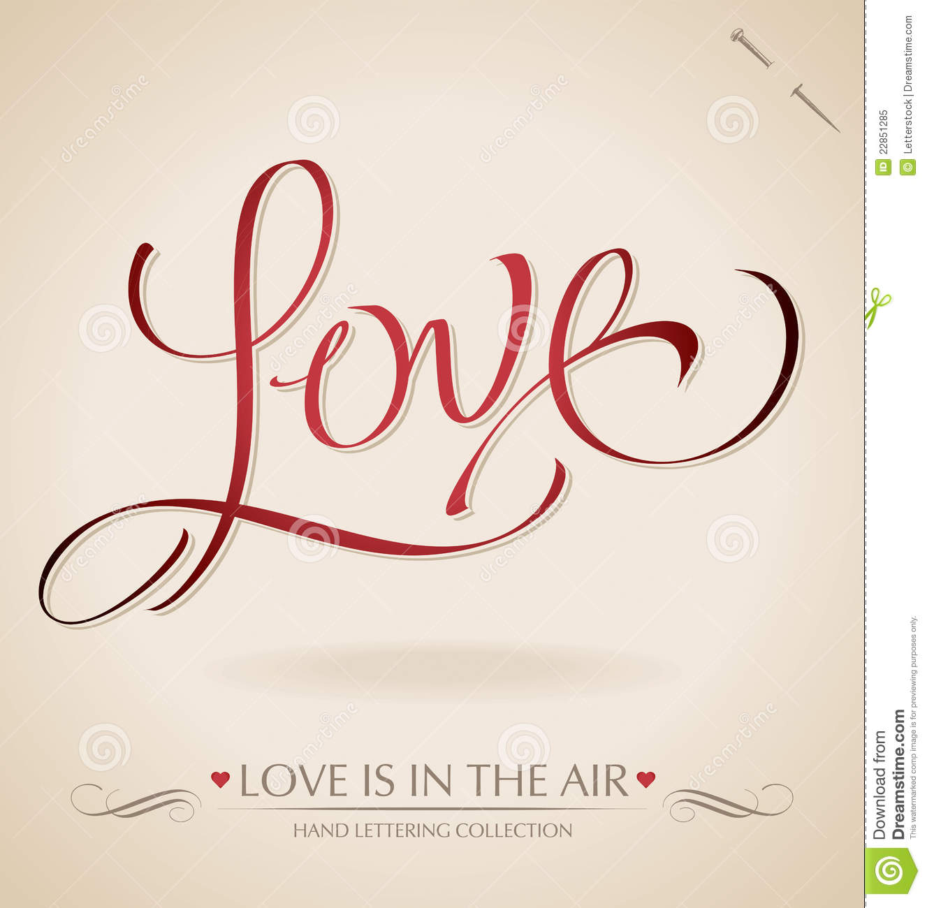 Love Hand Lettering Vector Royalty Free Stock Photo