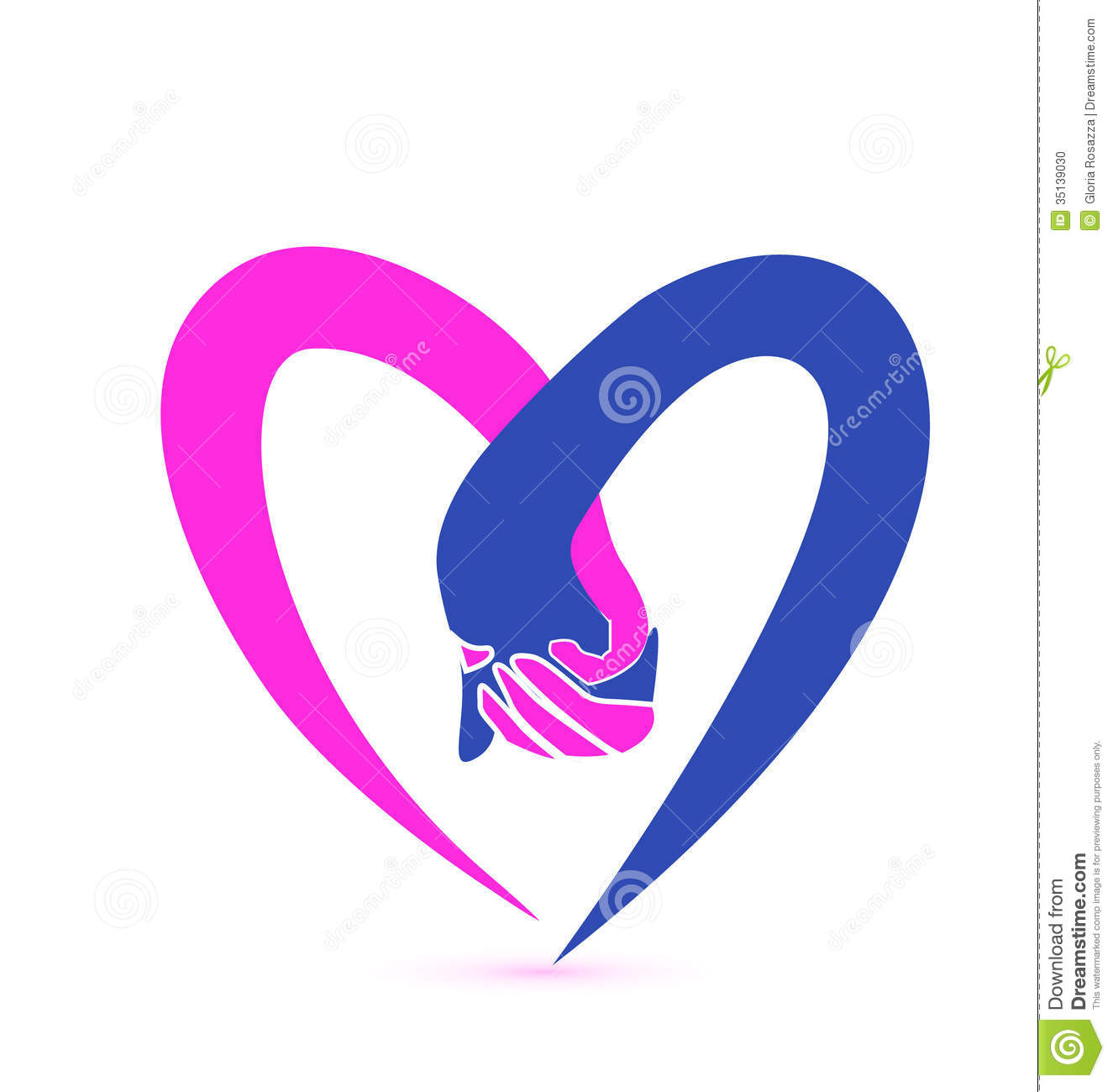Love hands logo stock vector illustration of care for Love the design