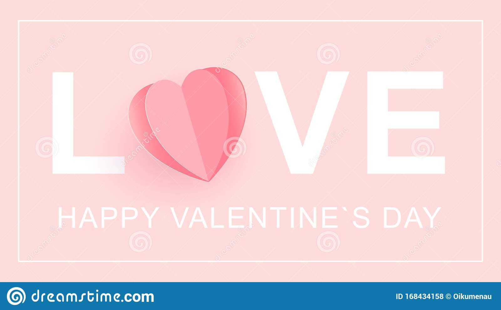 love happy valentine s day card word love with a heart