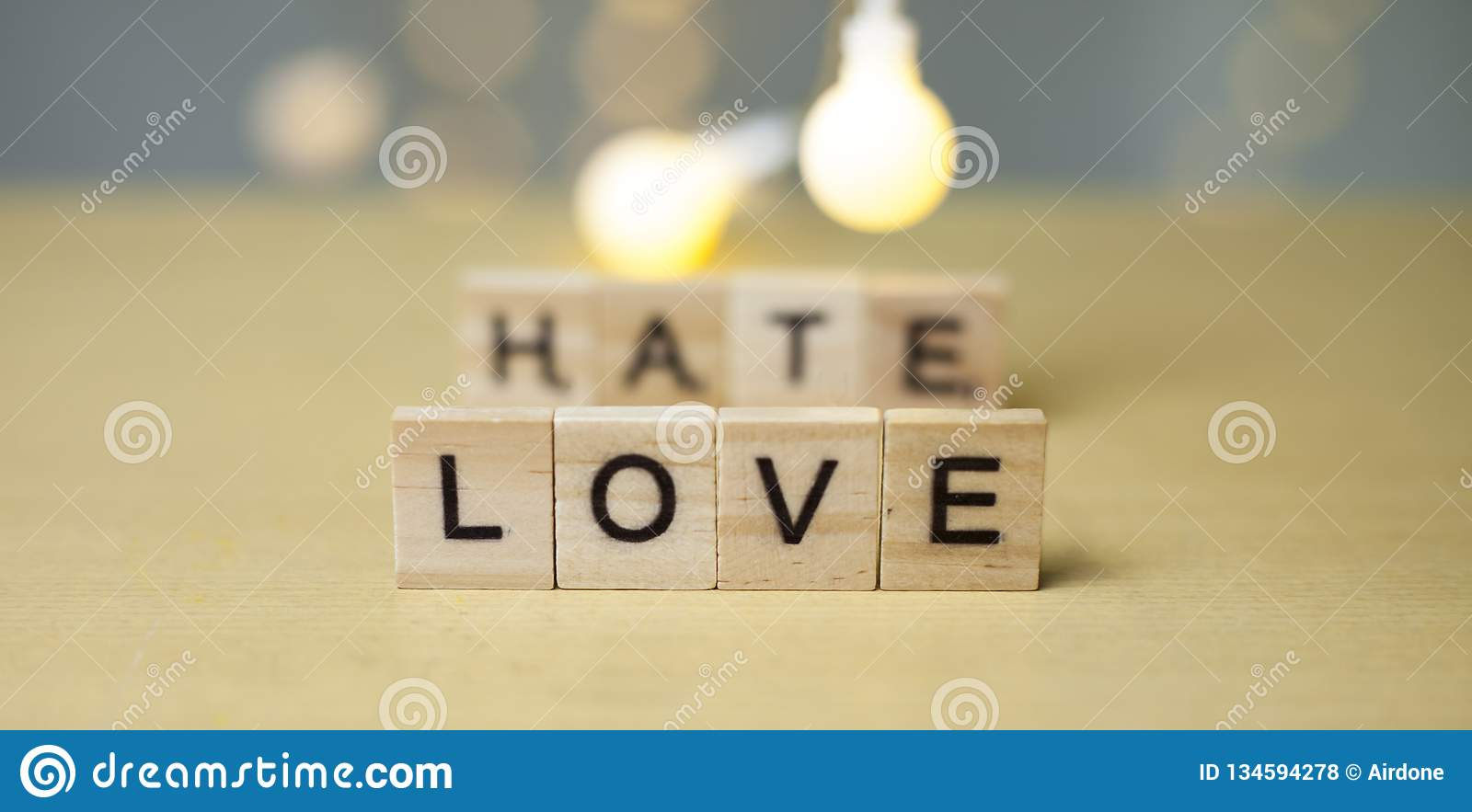 Love Hate Relationship Concept Stock Photo Image Of Lettering