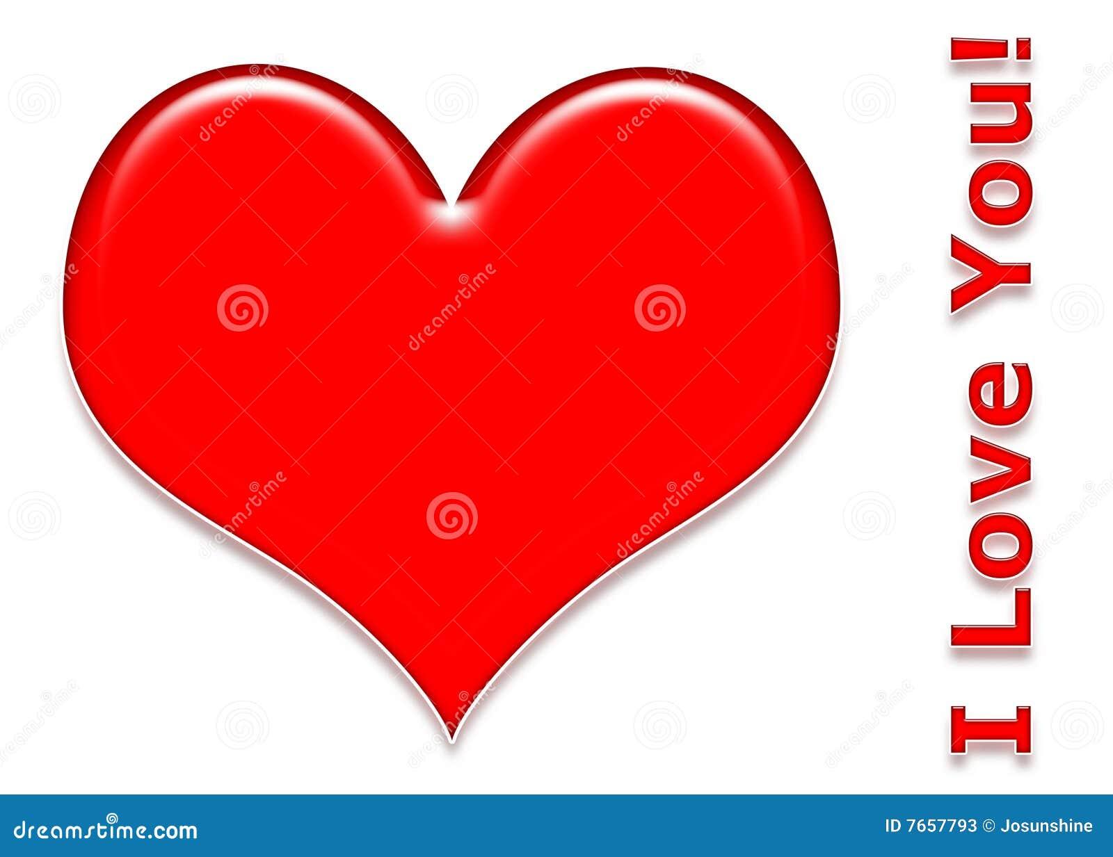 Love Heart 3d Stock Illustration. Illustration Of White