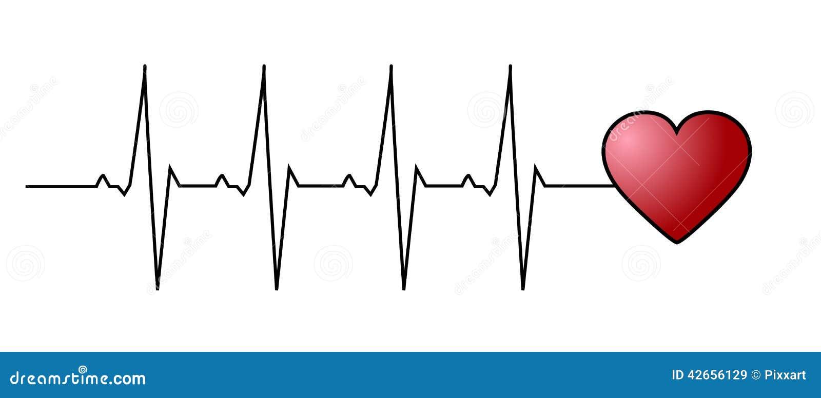 Love Heart Beat Stock Vector Image 42656129
