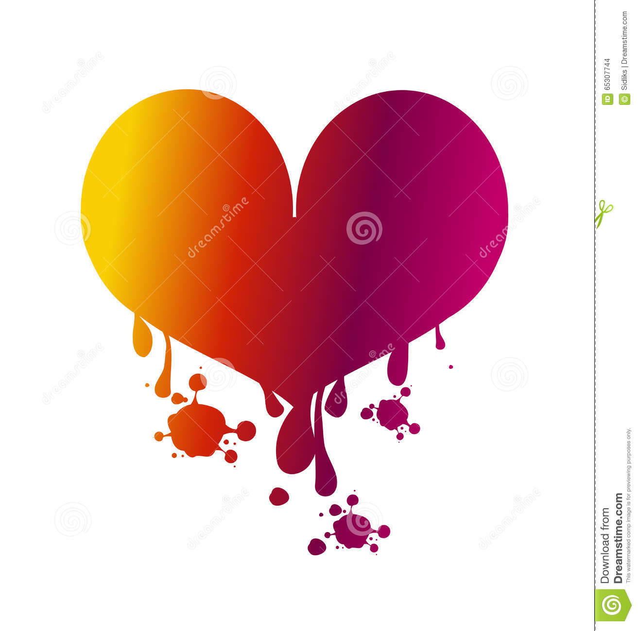 Love heart bleeding