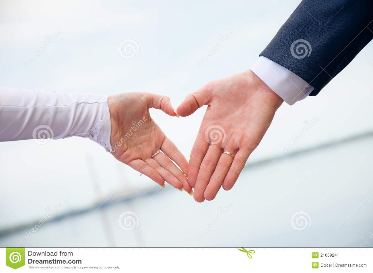 Love in heart. Hands made symbol