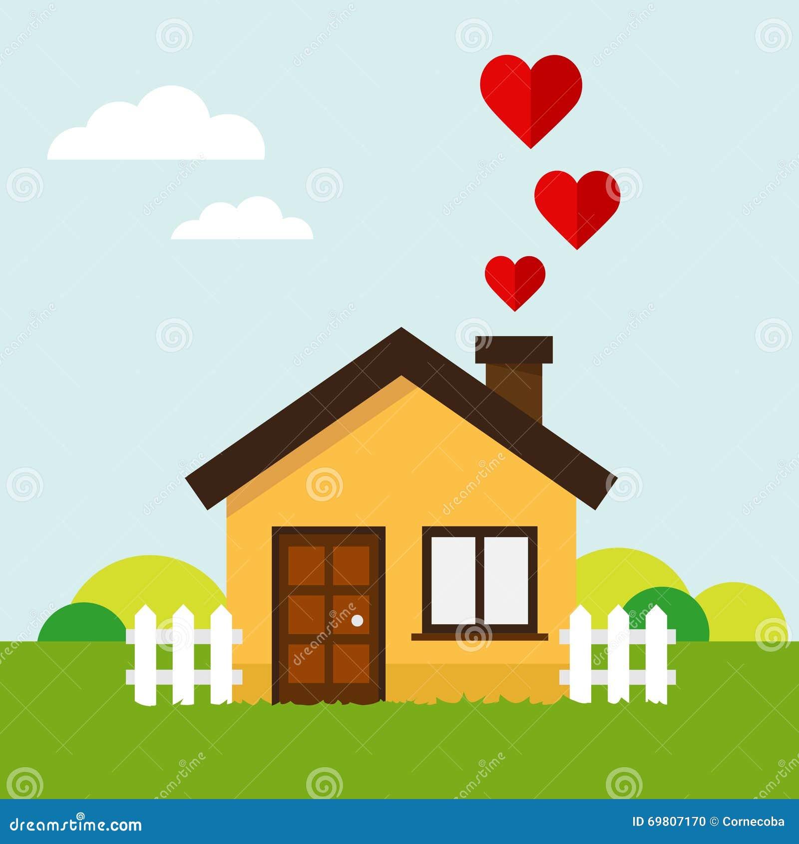 Love Heart House Stock Vector Illustration Of Energy
