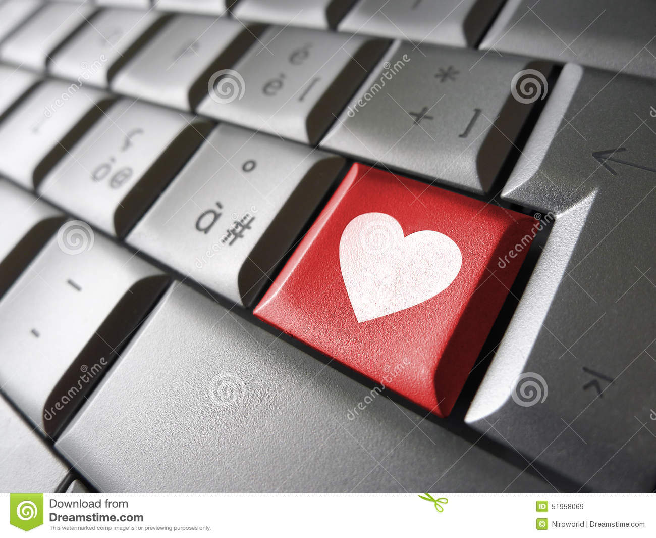 Love Heart Icon Computer Key Stock Image Image Of Lovers Dating