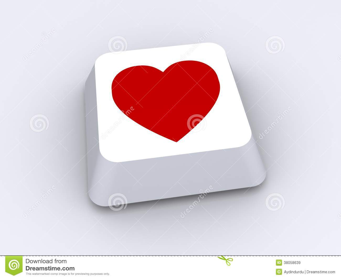 Love Heart On Keyboard Button Stock Image Image Of Symbol