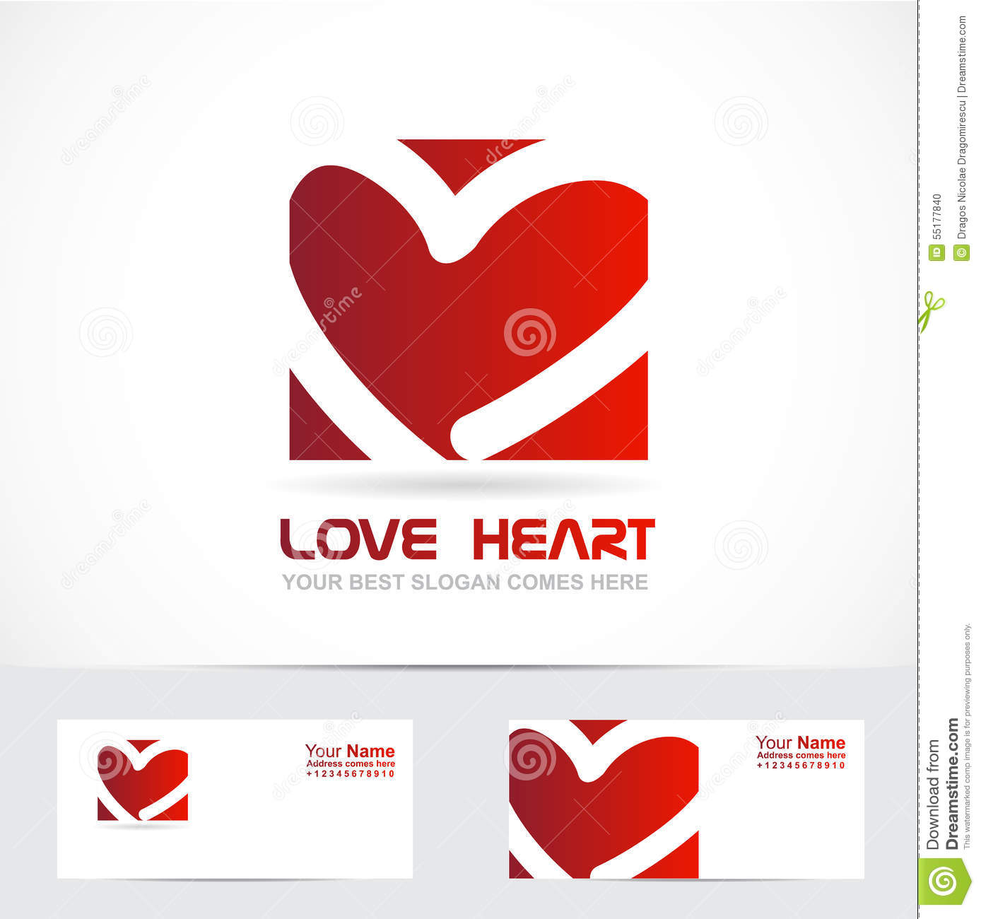 Love heart logo red stock vector. Image of graphic ...