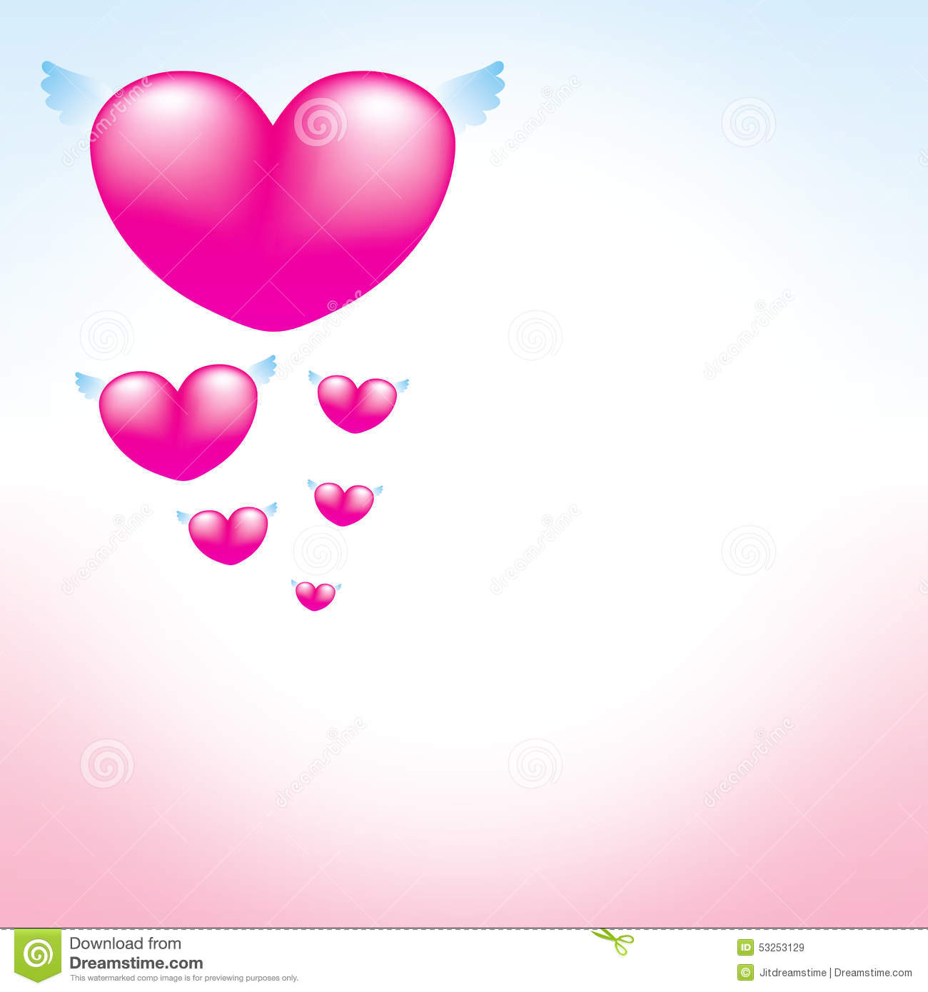 Love Heart Pink Background Stock Vector Illustration Of Greeting