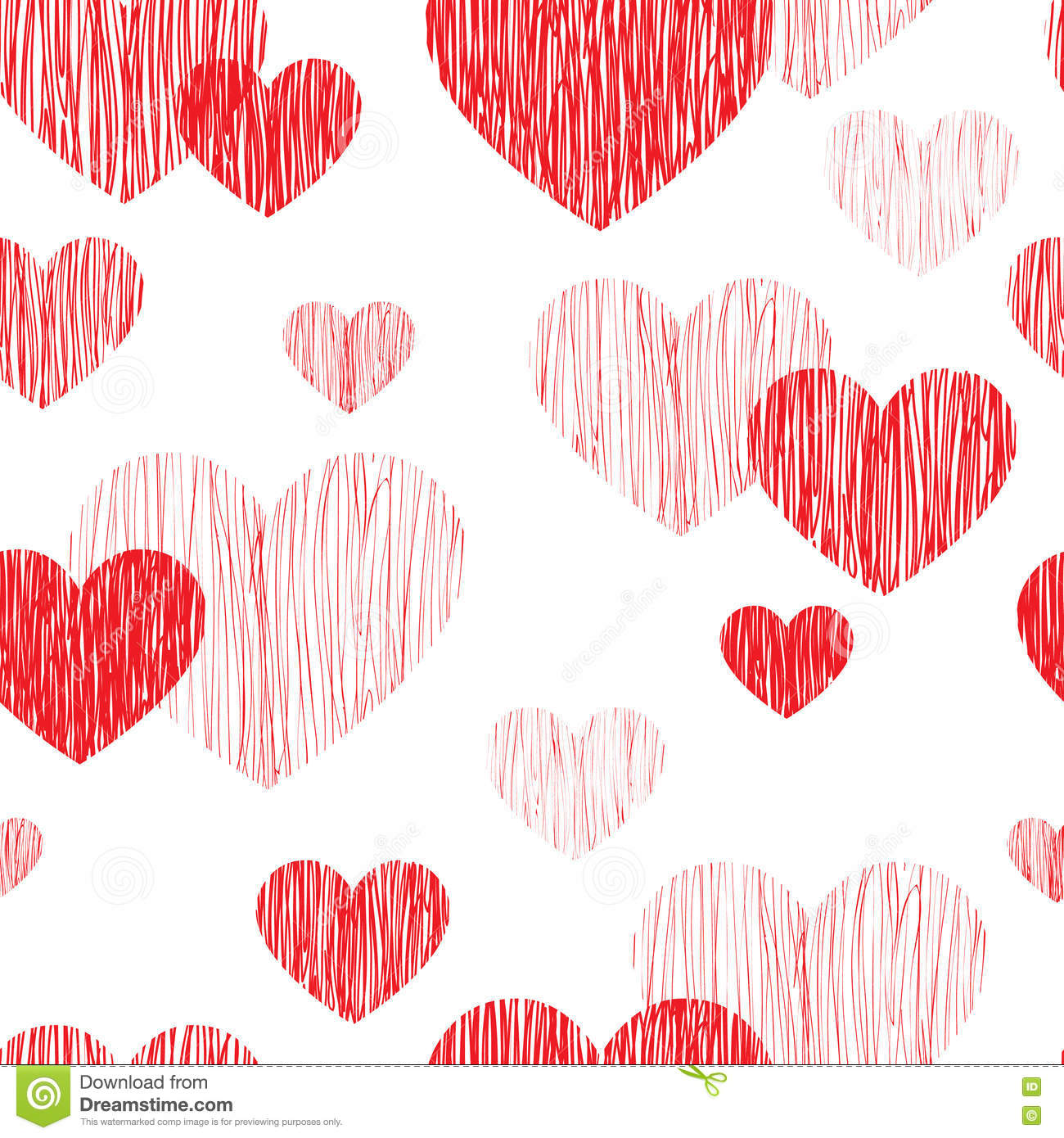 Love Heart Seamless Pattern Happy Valentines Day Wallpaper Lov
