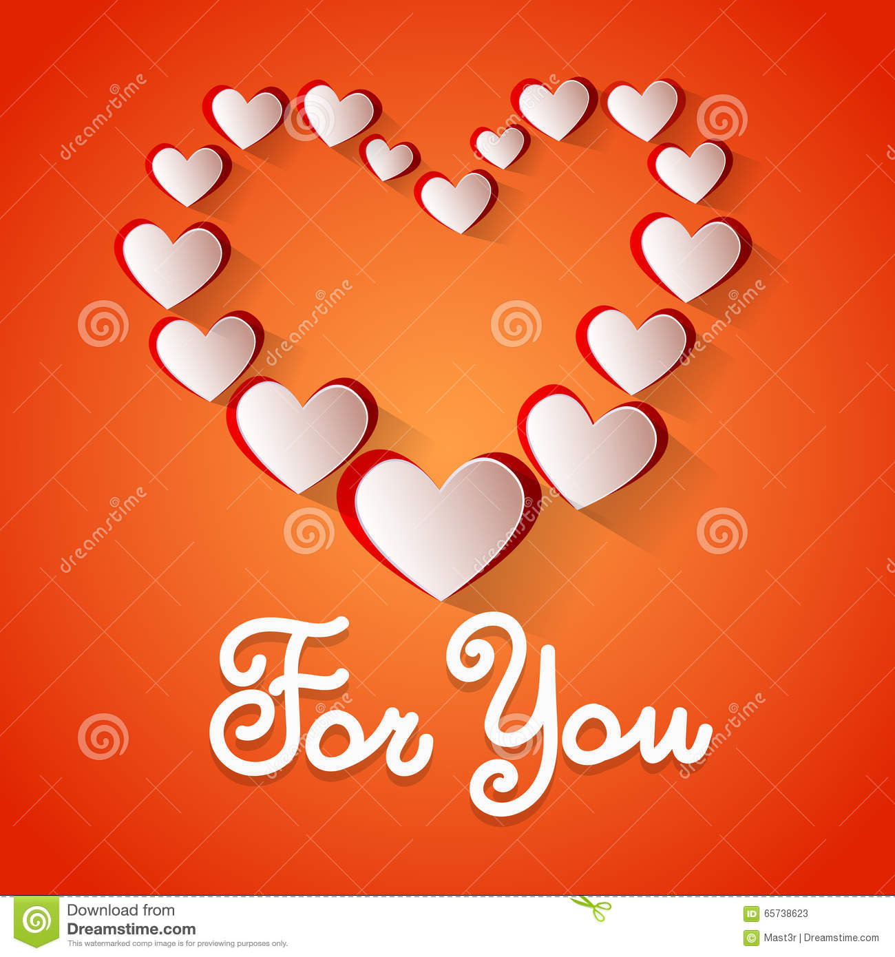 Love You Heart Shape Valentine Day Greeting Card Vector – Heart Shaped Valentine Cards