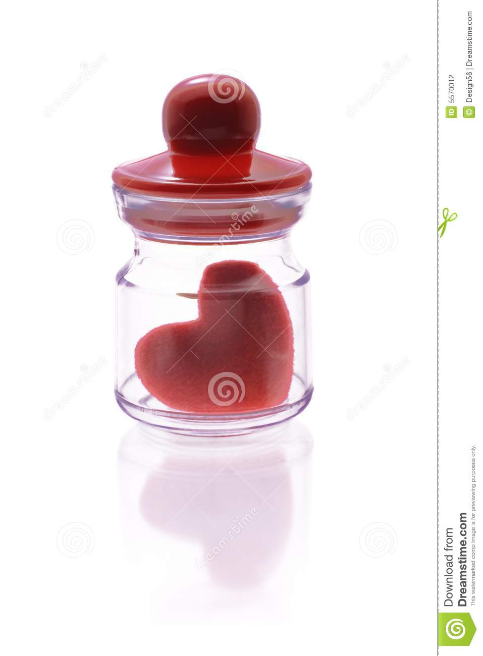 Love Heart Symbol Inside Mini Container Stock Photo Image Of Clear