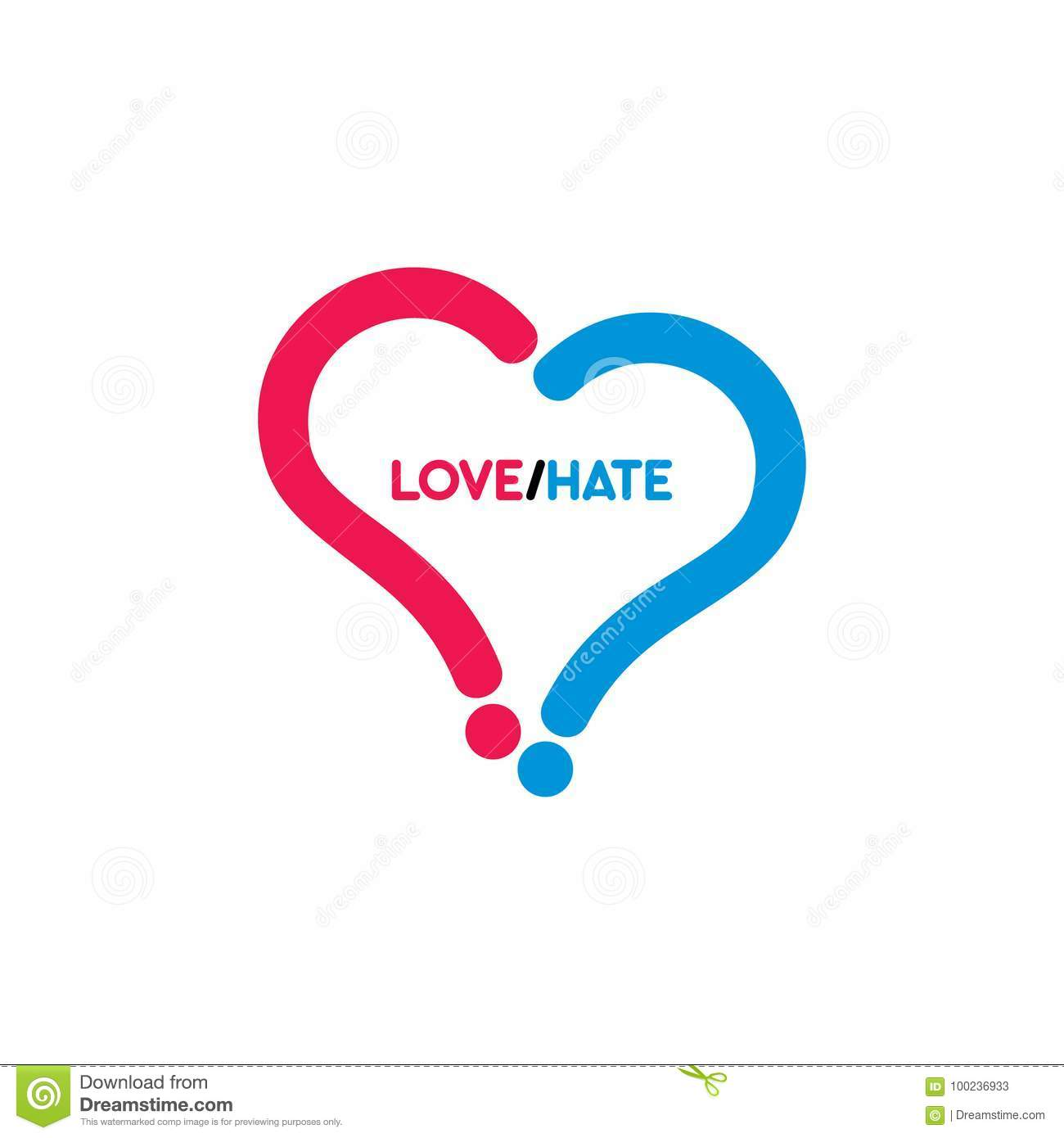 Love Heart Symbol With Question Mark Stock Vector Illustration Of