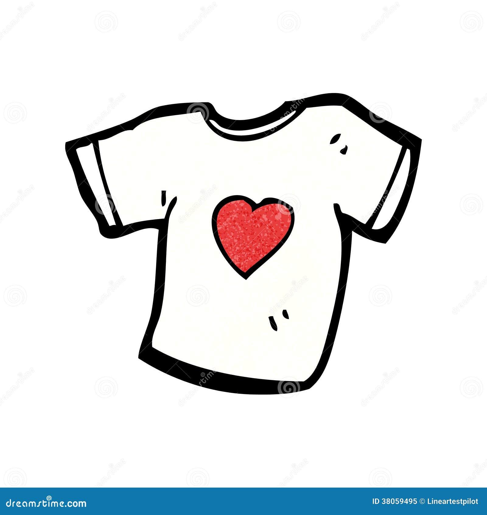 Love Heart Tee Shirt Cartoon Royalty Free Stock Photo - Image ...
