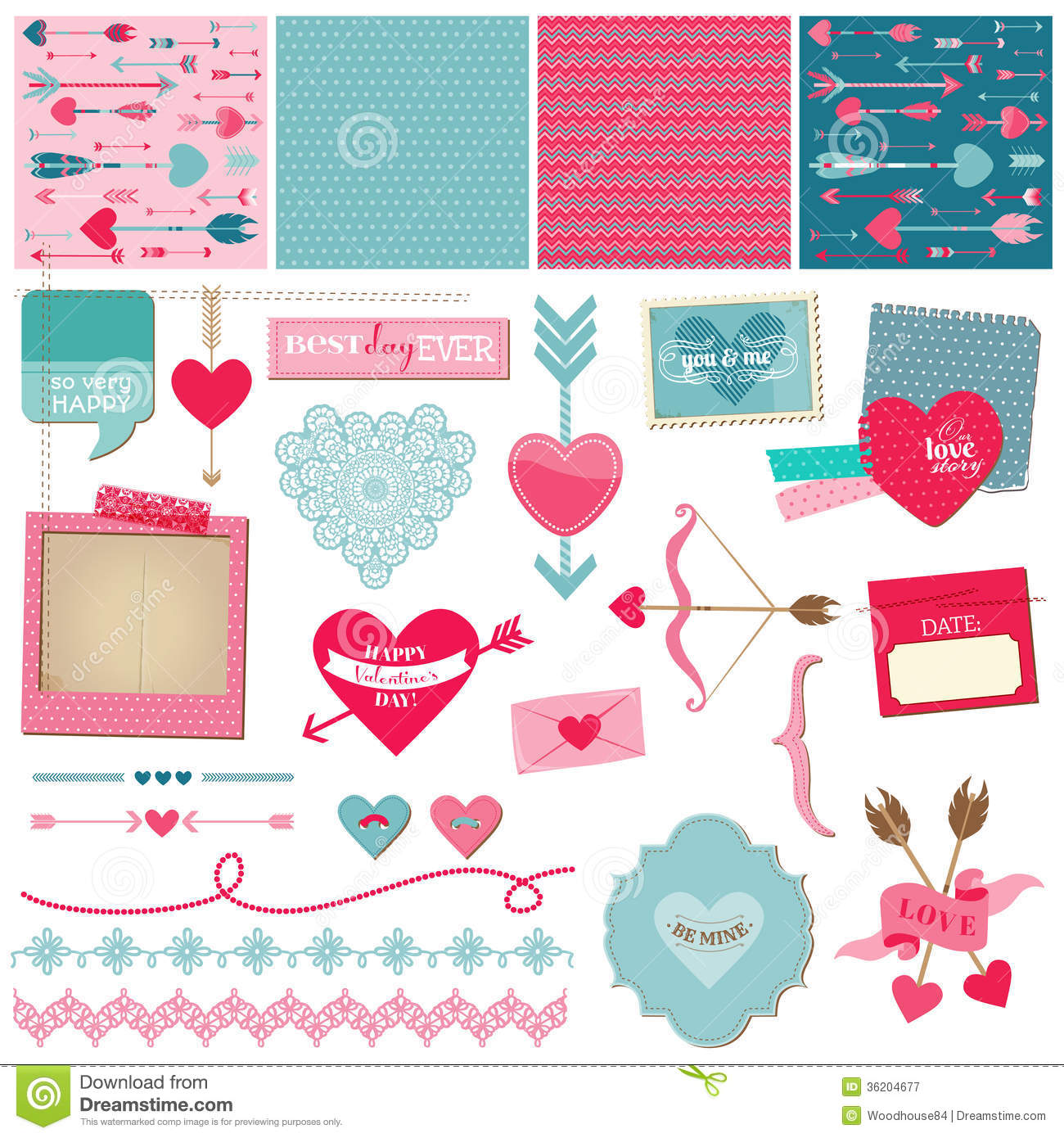 Love Heart And Valentines Royalty Free Stock Photography
