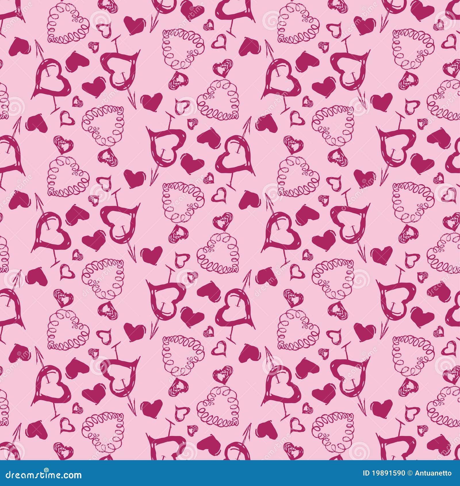 Love Heart Vector Seamless Pattern Stock Photo Image