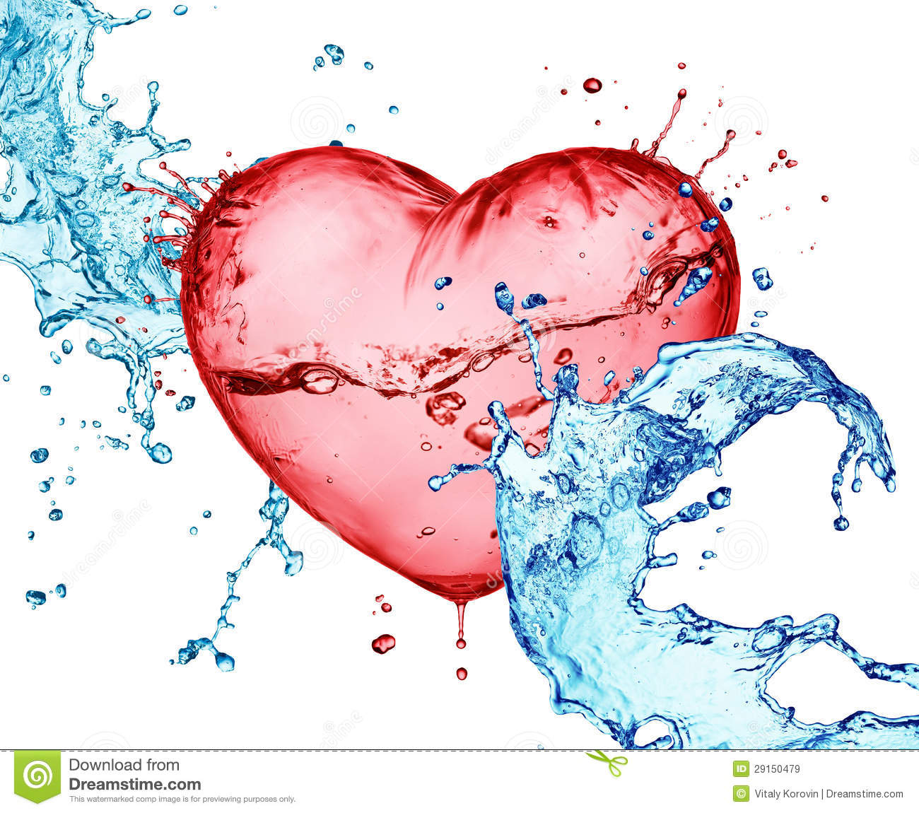 Love heart water splash stock image. Image of splashed ...