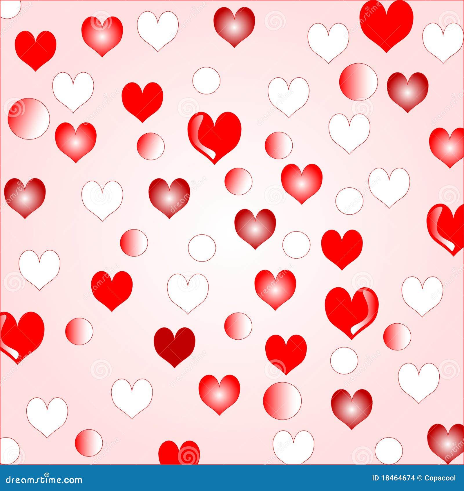 Love Hearts Background Border Design Stock Vector - Illustration of ...
