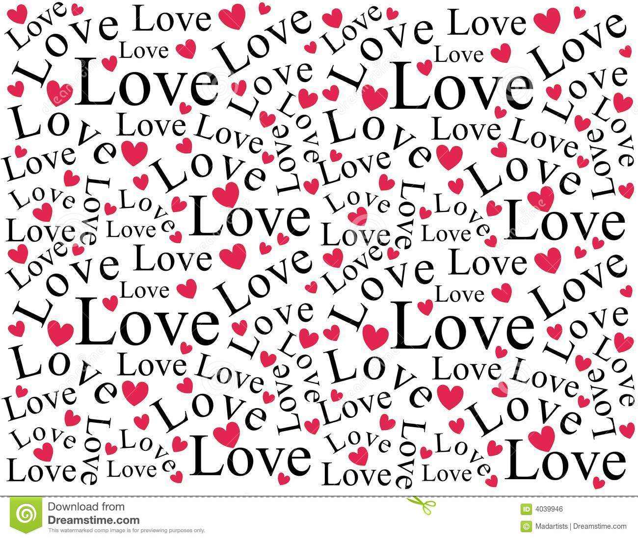 ... Hearts Background Pattern Royalty Free Stock Image - Image: 4039946