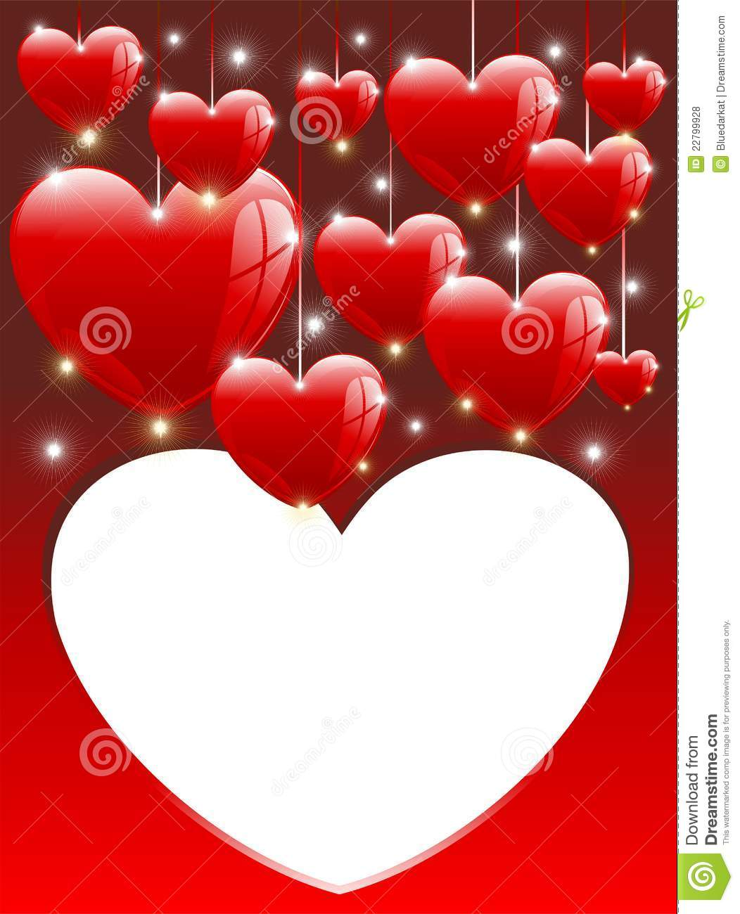 love hearts balloons card valentine's day stock vector