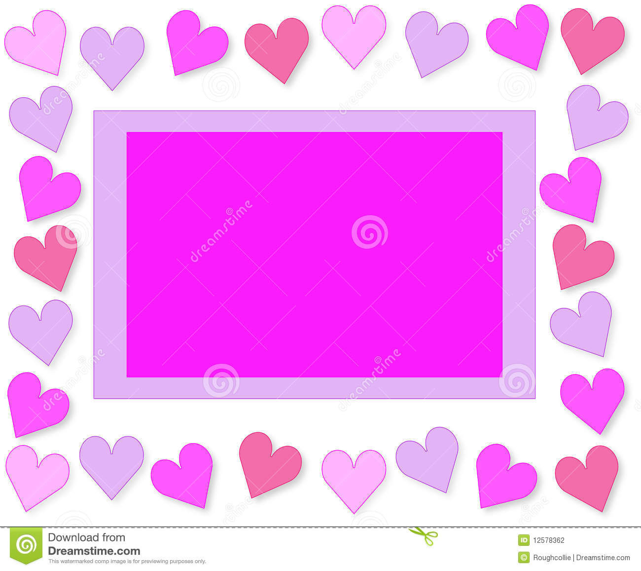 Love Hearts Valentine greetings card