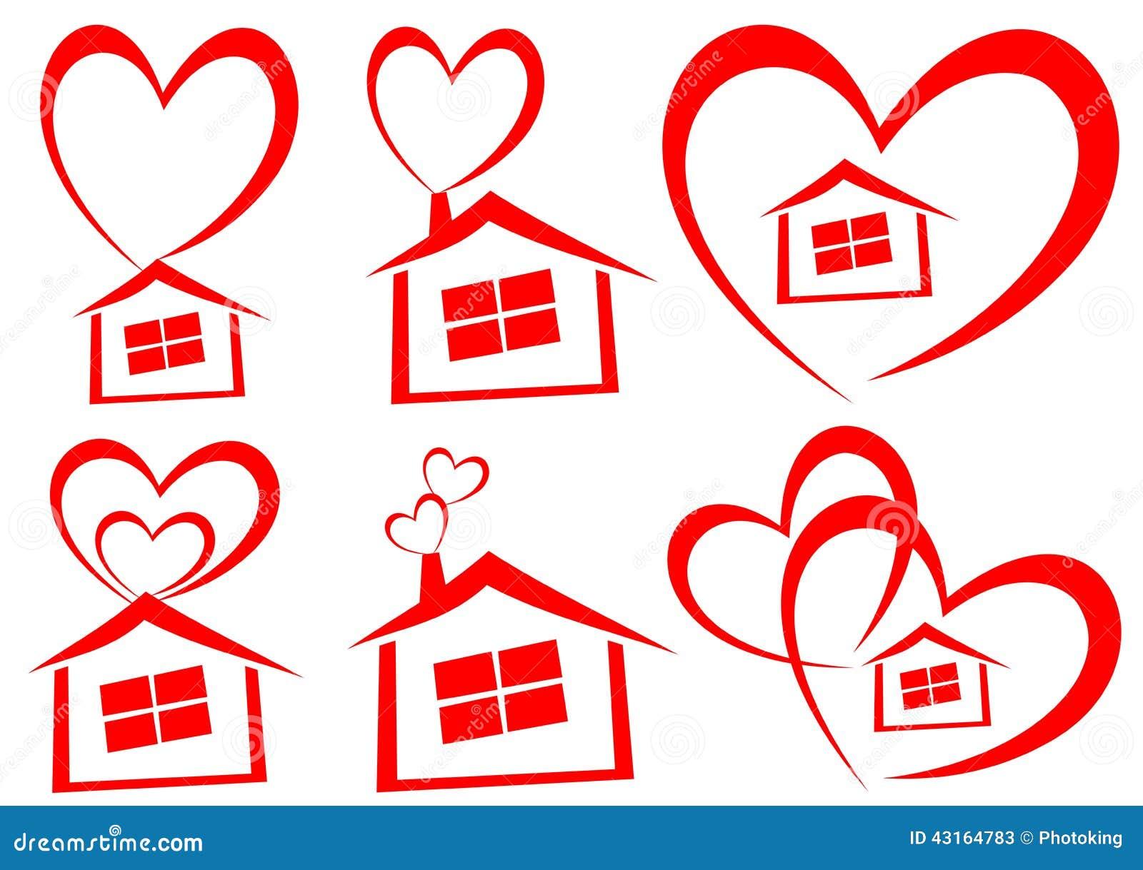 Love Home Logo Vector Illustration