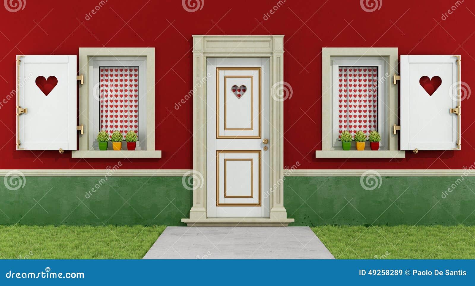 Love house & Love house stock illustration. Illustration of vintage - 49258289