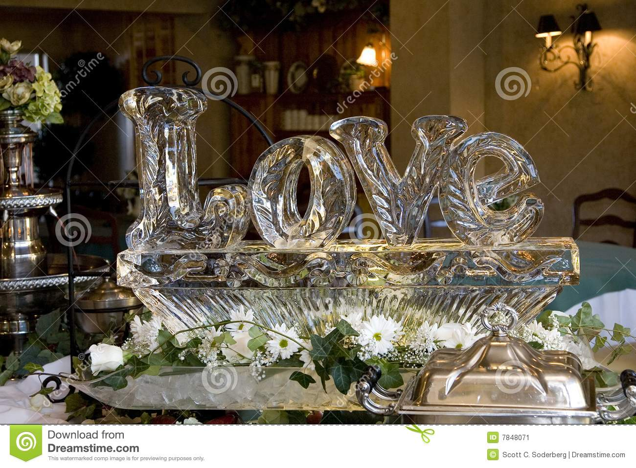 Love Ice Sculpture Stock Image Image Of Chiseled Carved