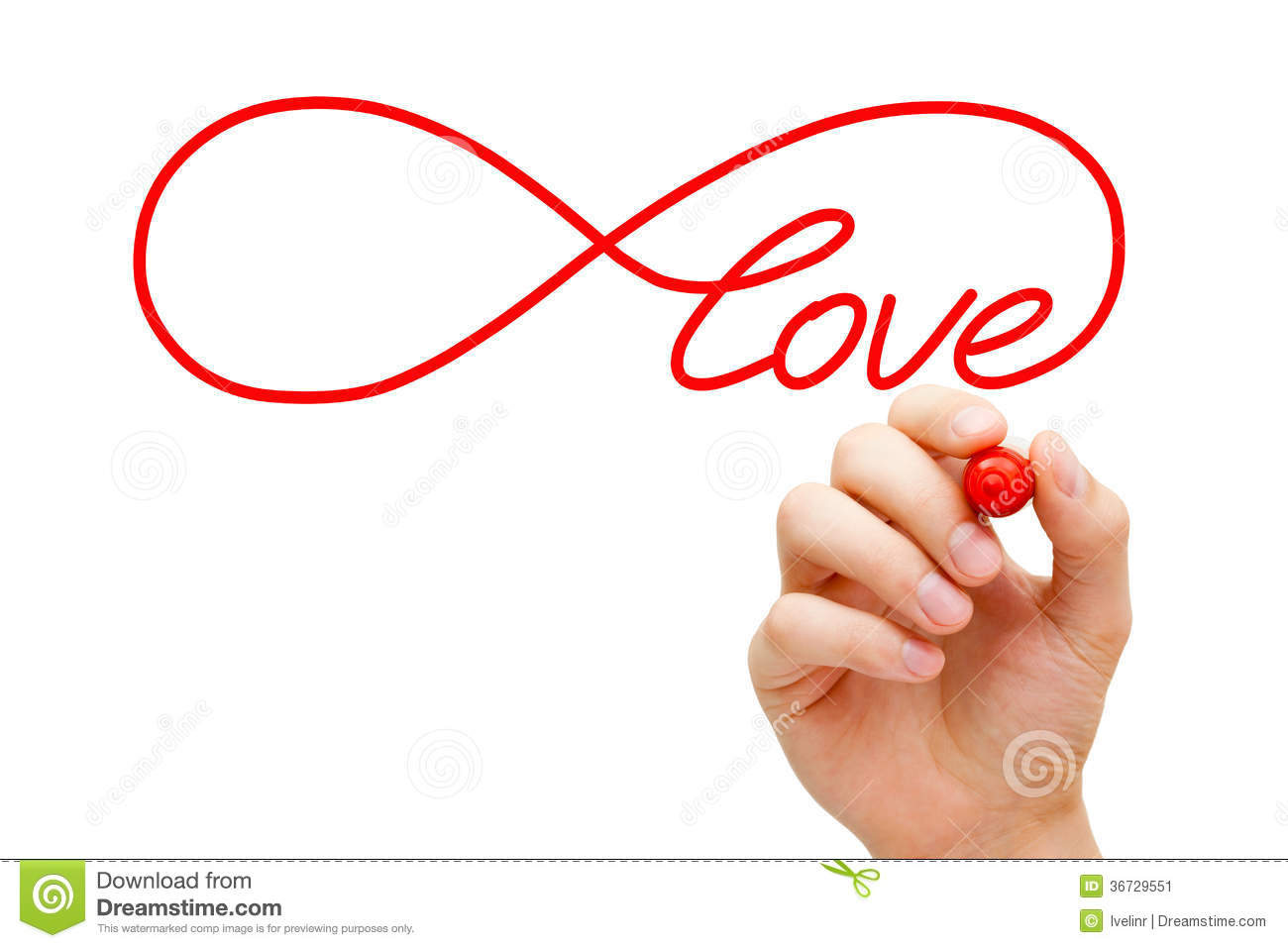 Love Infinity Concept Stock Image - Image: 36729551
