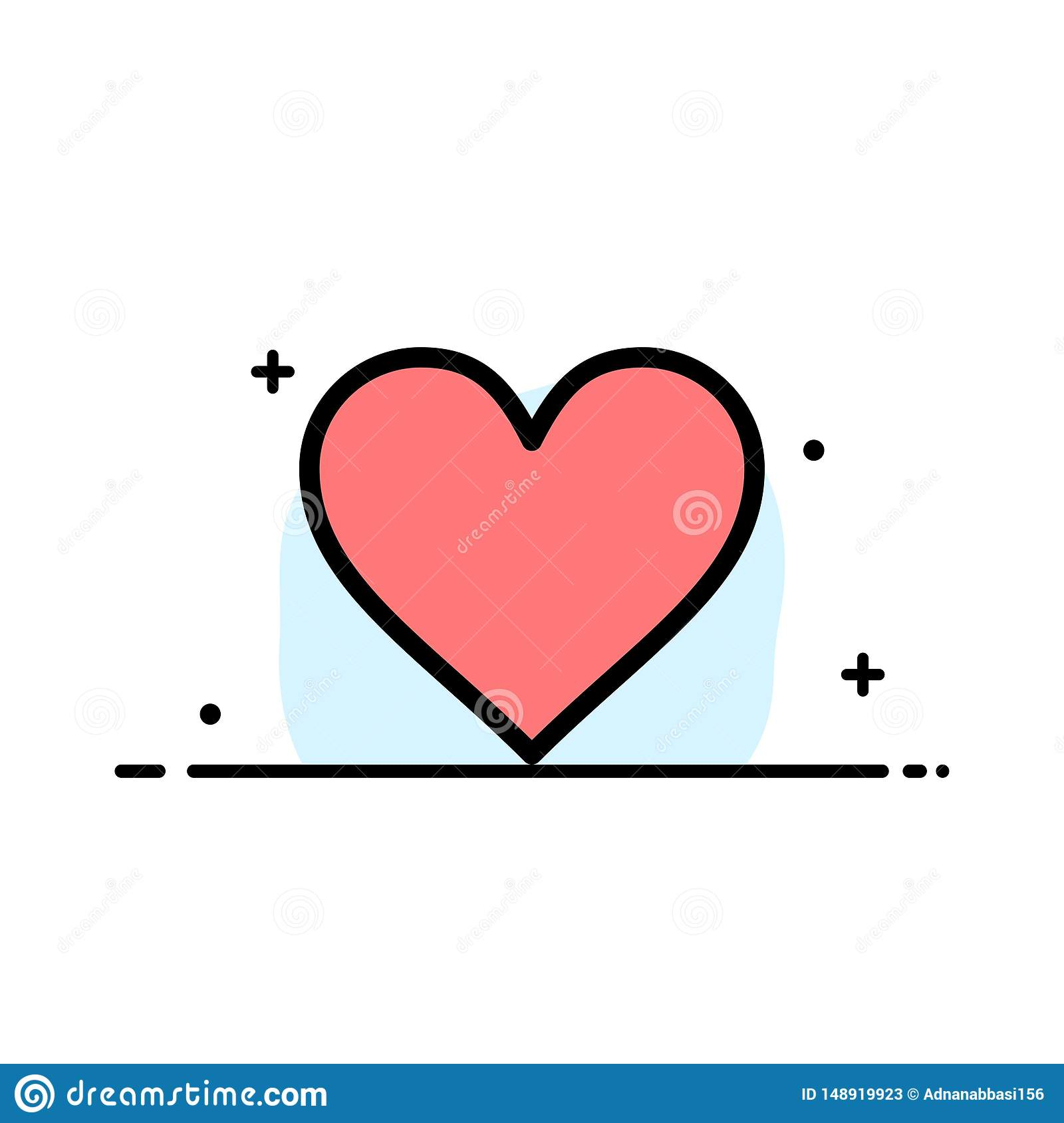 Love Instagram Interface Like Business Flat Line Filled Icon Vector Banner Template Stock Vector Illustration Of Symbol Online 148919923