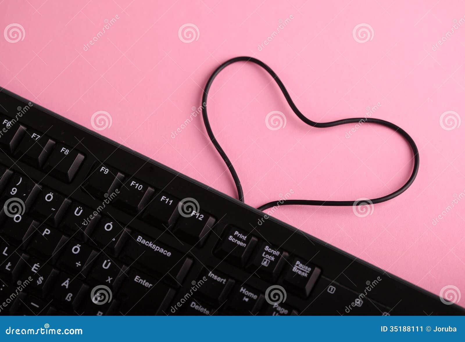 Heart shaped keyboard symbol images symbols and meanings love on internet stock image image of february cable 35188111 royalty free stock photo biocorpaavc images buycottarizona Choice Image