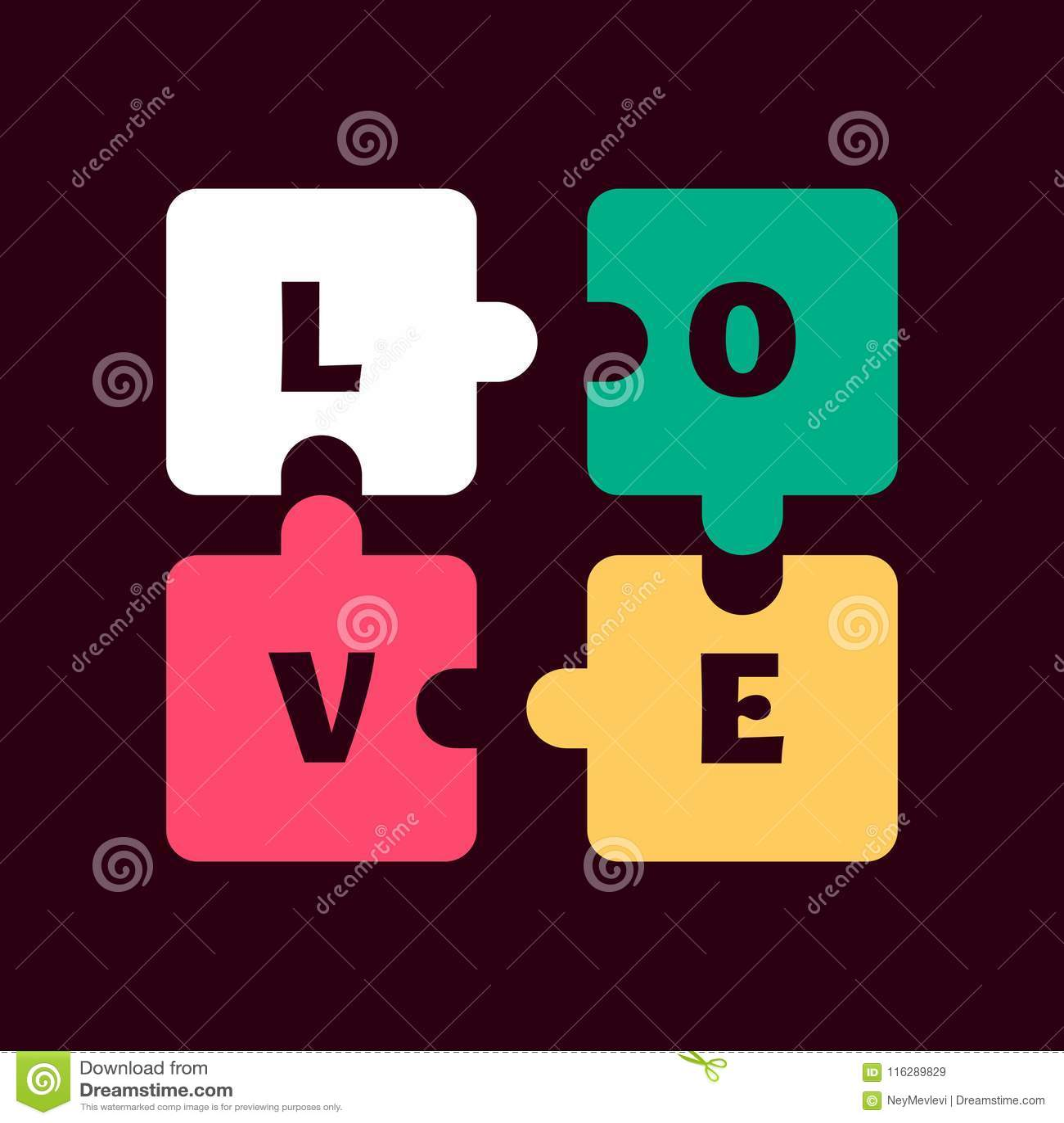 Symbol of love affair stock vector  Illustration of silent