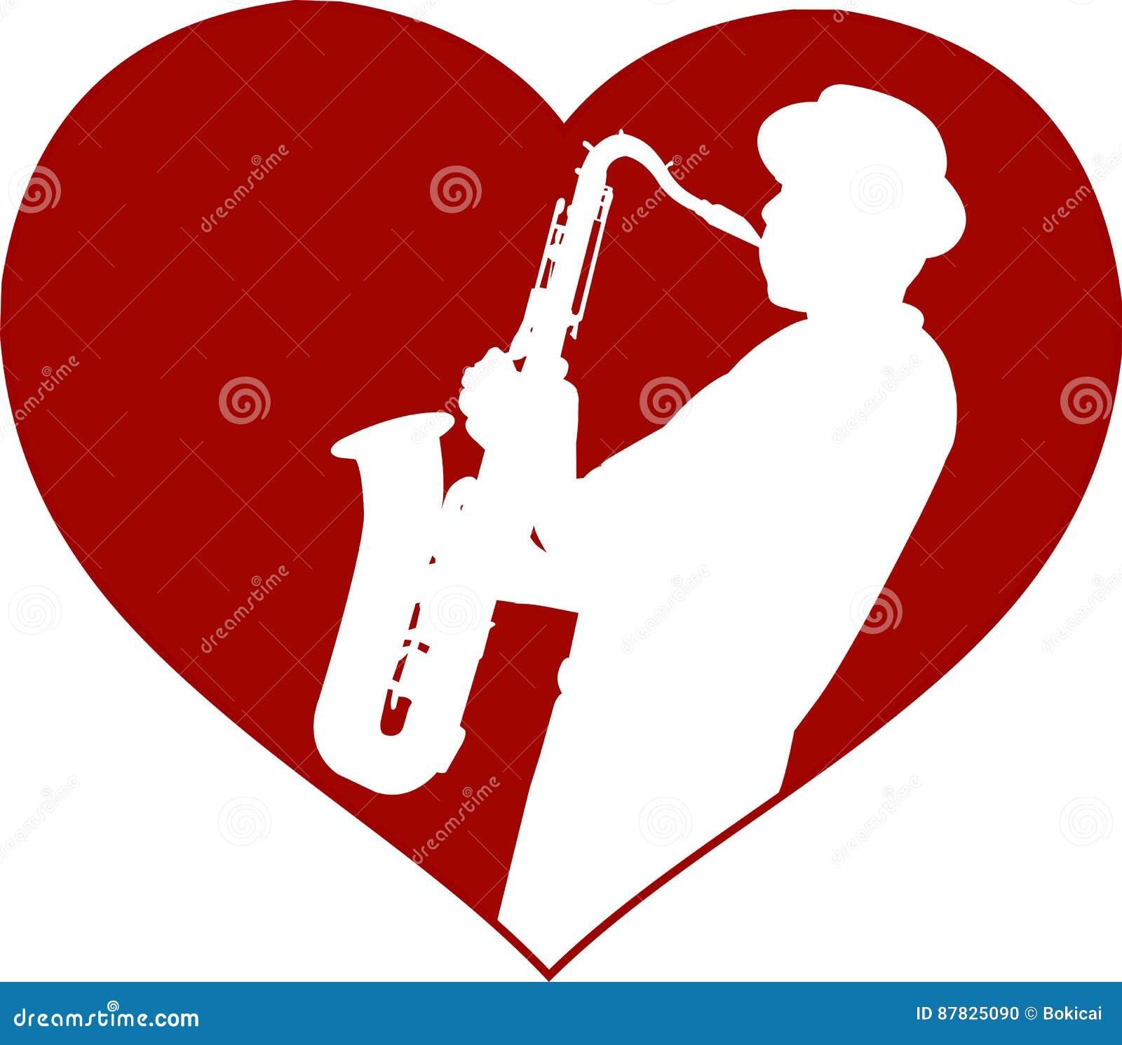 Love jazz concept