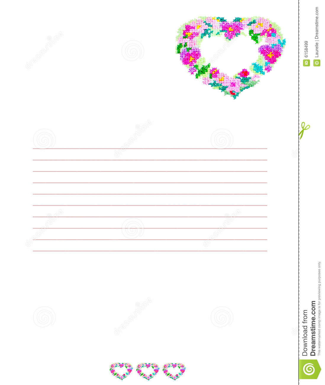 Love Letter Background Stock Illustration Illustration