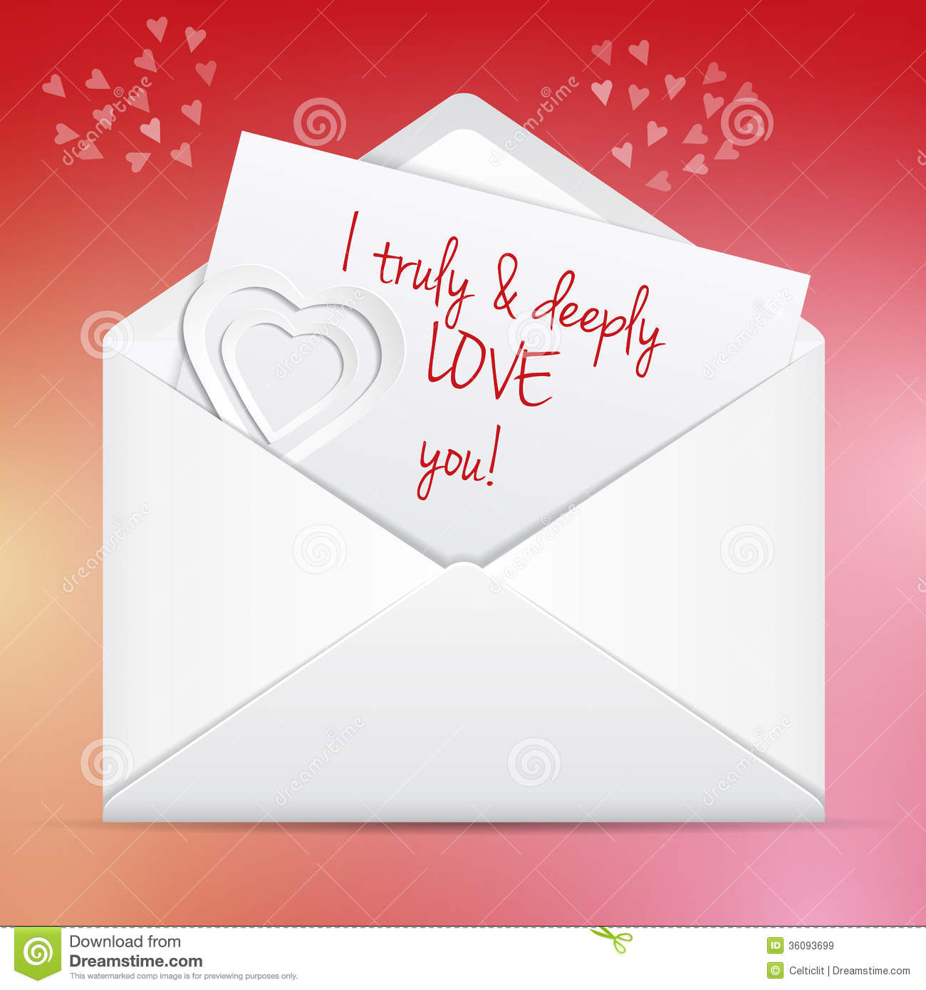 Love Letter Royalty Free Stock Images - Image: 36093699