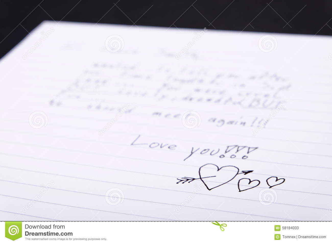 Love Letter Stock Image Of Written Background