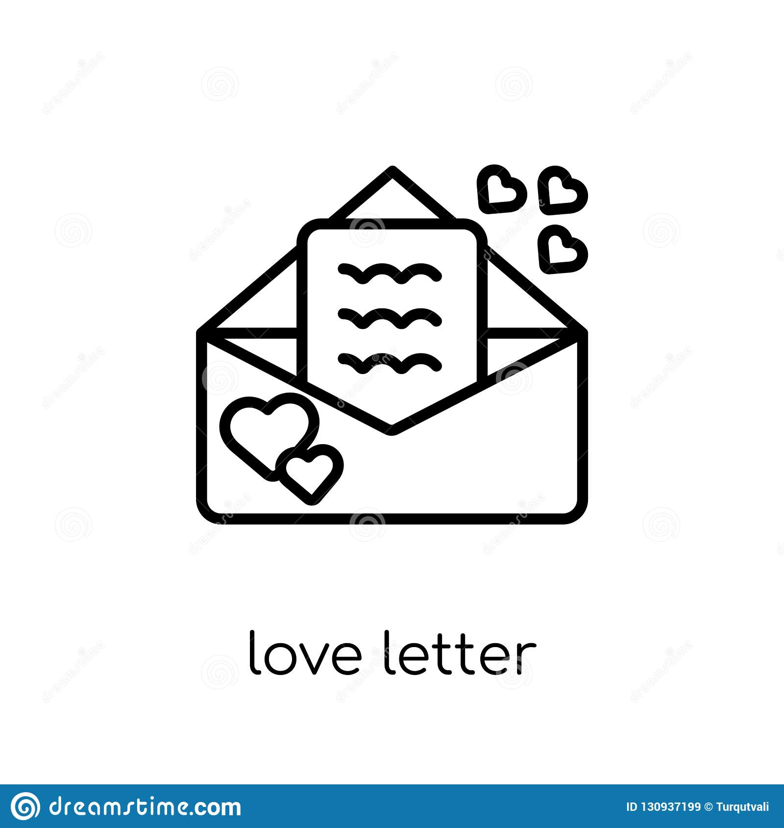 1617e7b033c6 Love Letter Icon From Wedding And Love Collection. Stock Vector ...