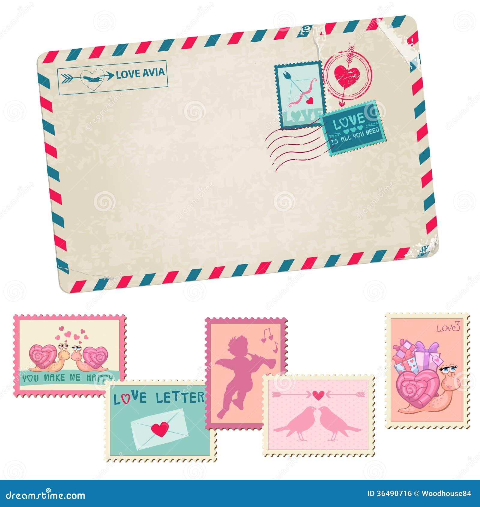 Love Letter - Vintage Postcard Royalty Free Stock Image ...